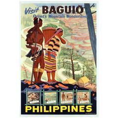 Original Vintage Poster - Visit Baguio Philippines Orient's Mountain Wonderland