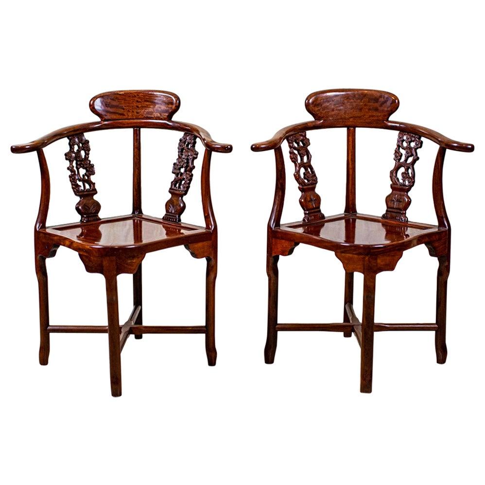Pair of 20th Century Corner Chairs