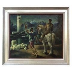Robert Heitz Oil Painting Allegorical