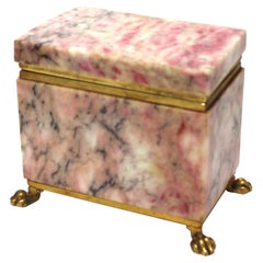 Antique Jewelry Casket with Gold Dore Accent