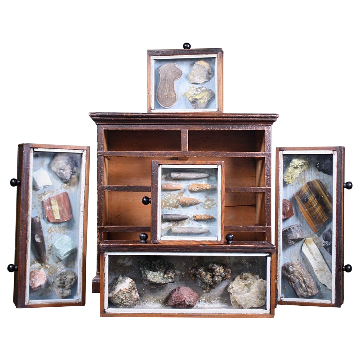 Denver Colorado D C Woodend, 1885 Table Top Geology Mineral Specimen Chest