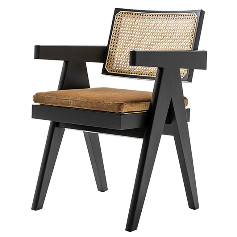 Pierre Jeanneret 051 Capitol Complex Office Chair with Cushion by Cassina