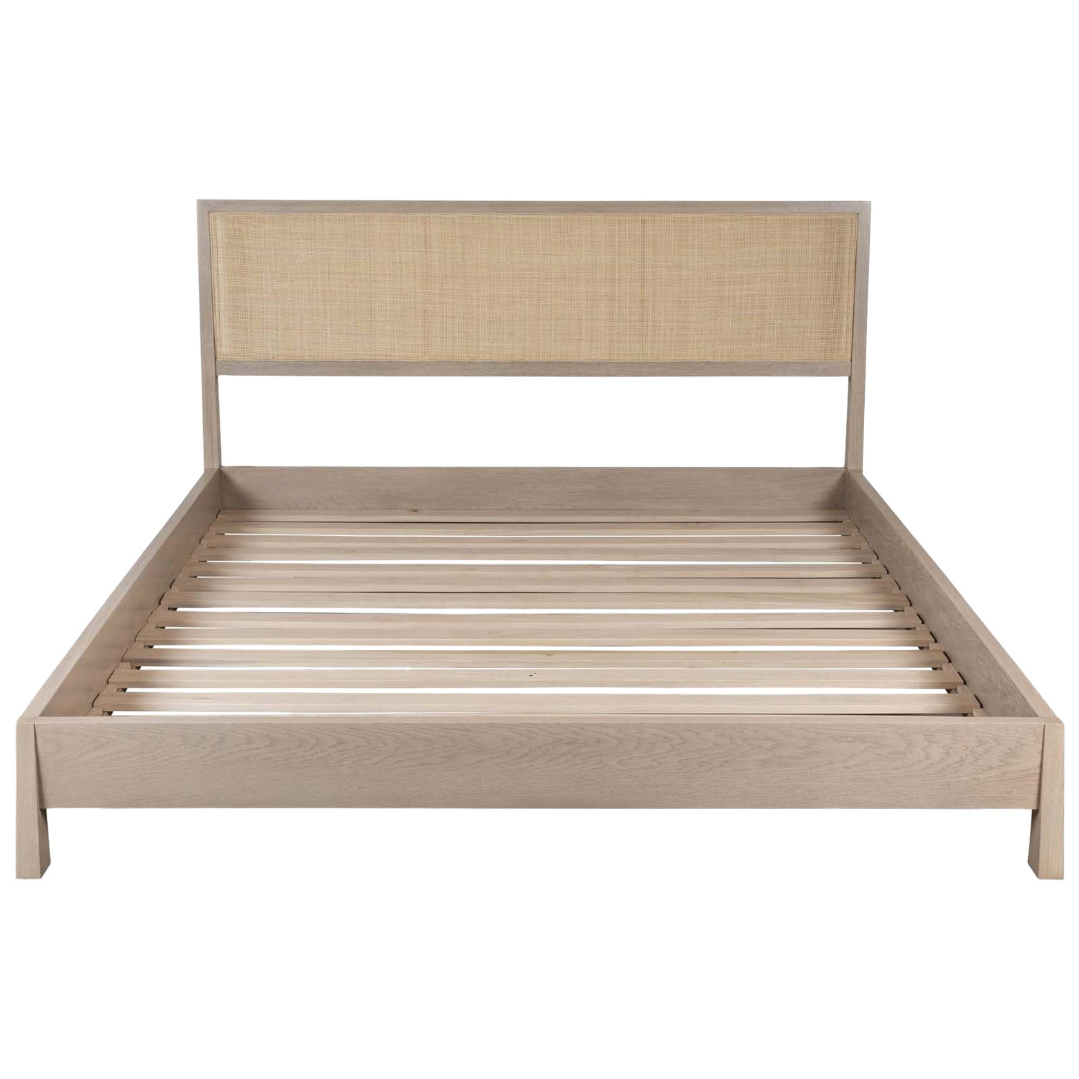 White Washed Oak Caned Bed by Lawson-Fenning, Cal King