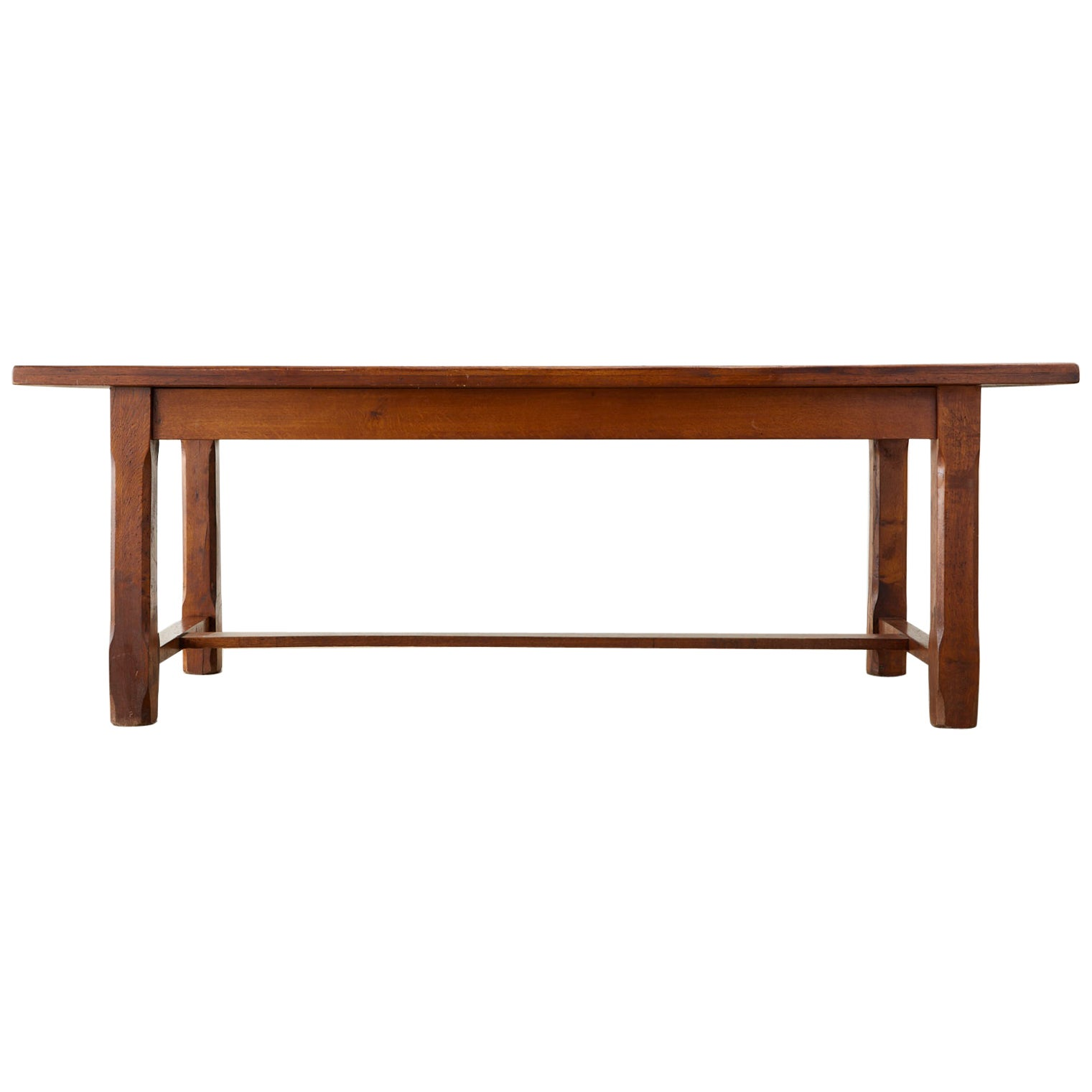 19th Century Country French Provincial Farmhouse Trestle Table