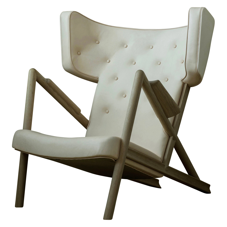 Finn Juhl Grasshopper Armchair, Wood and Leather