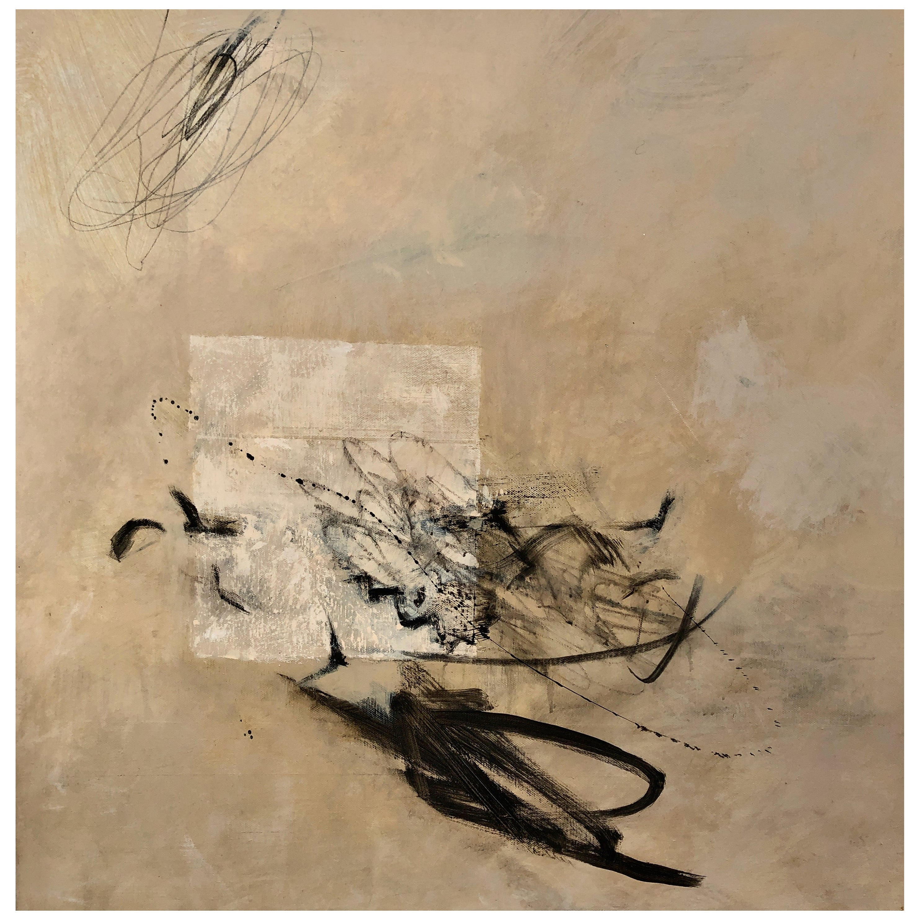 Flight Paths, Contemporary Abstract Oil Painting