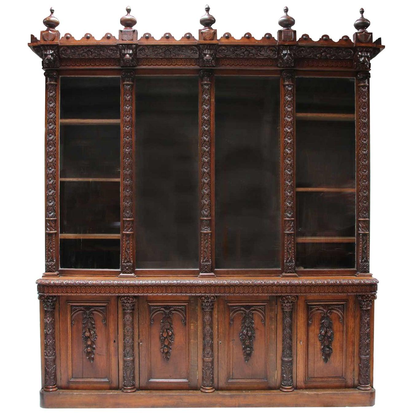 Large Victorian Bookcase, circa 1870