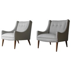 Pair of Midcentury Scoop Lounge Chairs