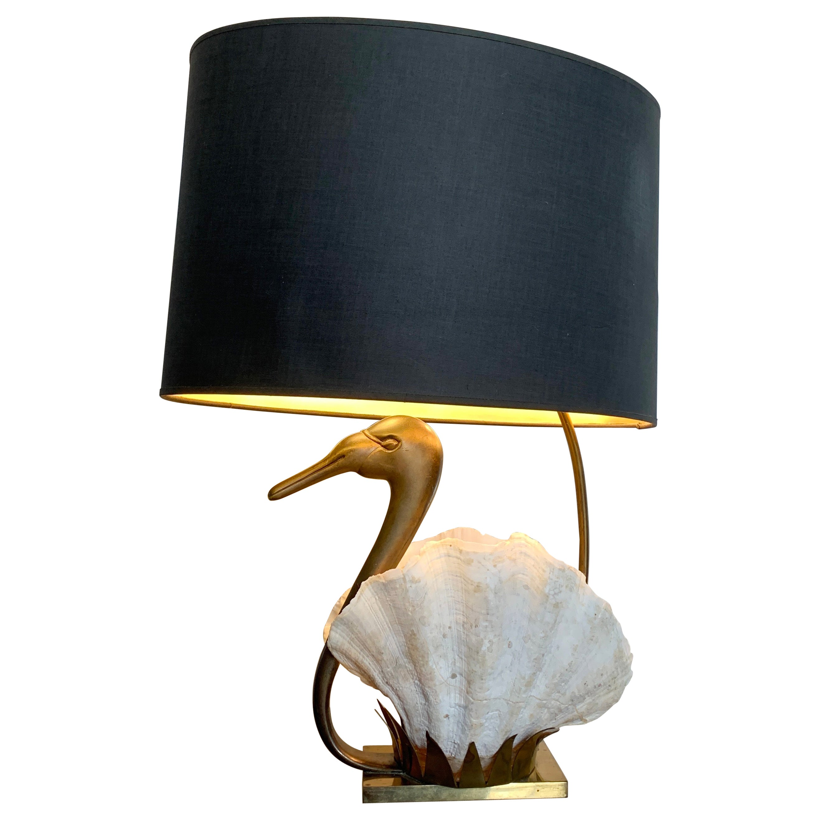 Exceptional, Willy Daro Swan Table Lamp, 1970s