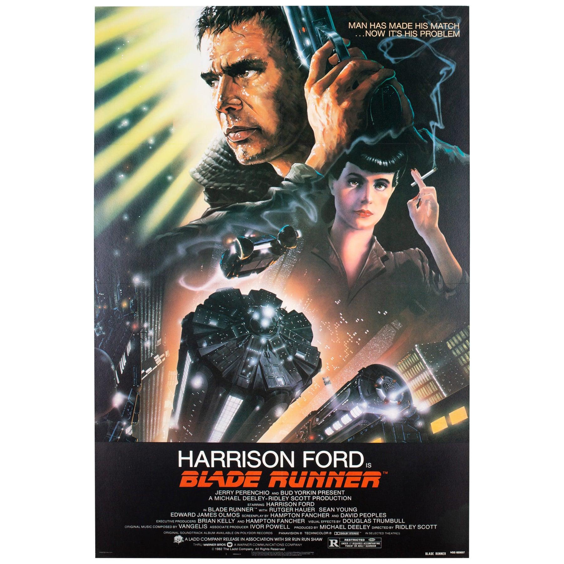Blade Runner 1982 US 1 Sheet Film Movie Poster, Alvin
