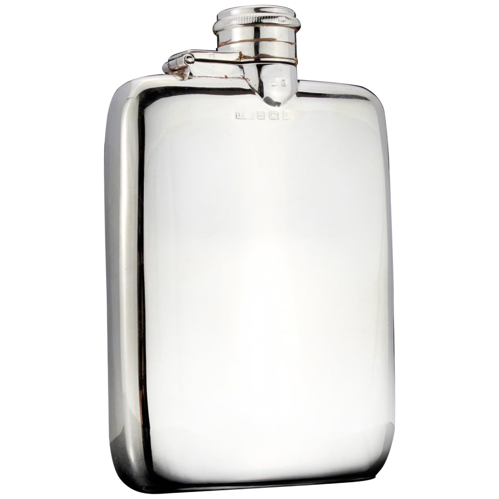 Antique Sterling Silver Small Hip Flask