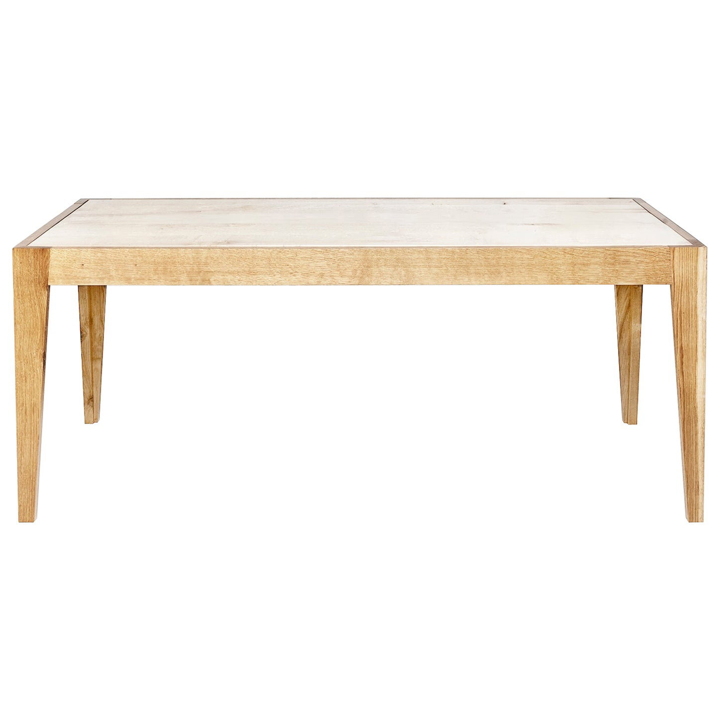 Leftover Table in Maple and Oak Solid Wood