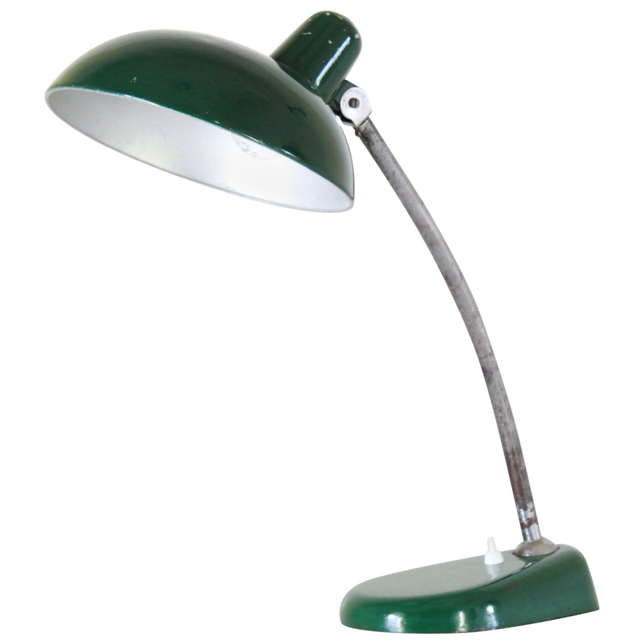 1940s Bauhaus Vintage Table Green Table Lamp