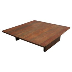 Axel Vervoordt, Large 1980s Coffee Table with a Bamboo Top in a Japanese Style
