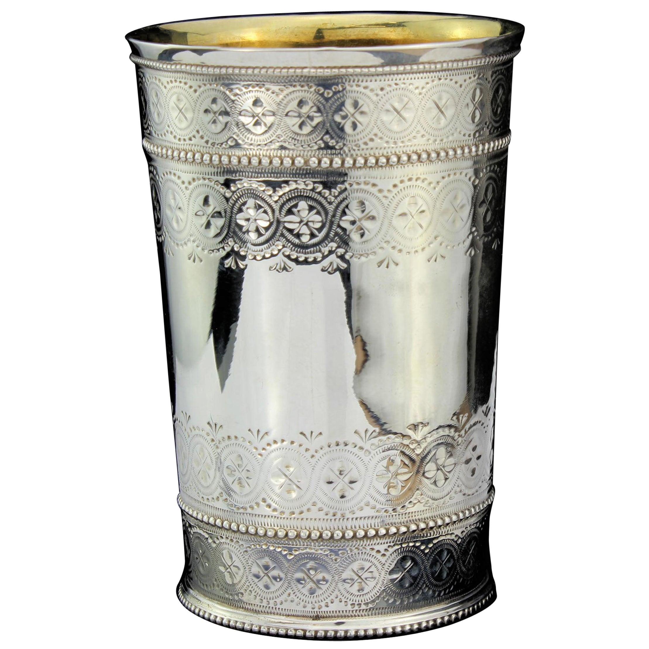 Antique Victorian Sterling Silver Beaker
