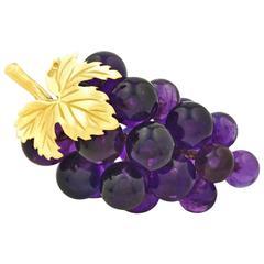 Vacheron Amethyst Grape Ornament