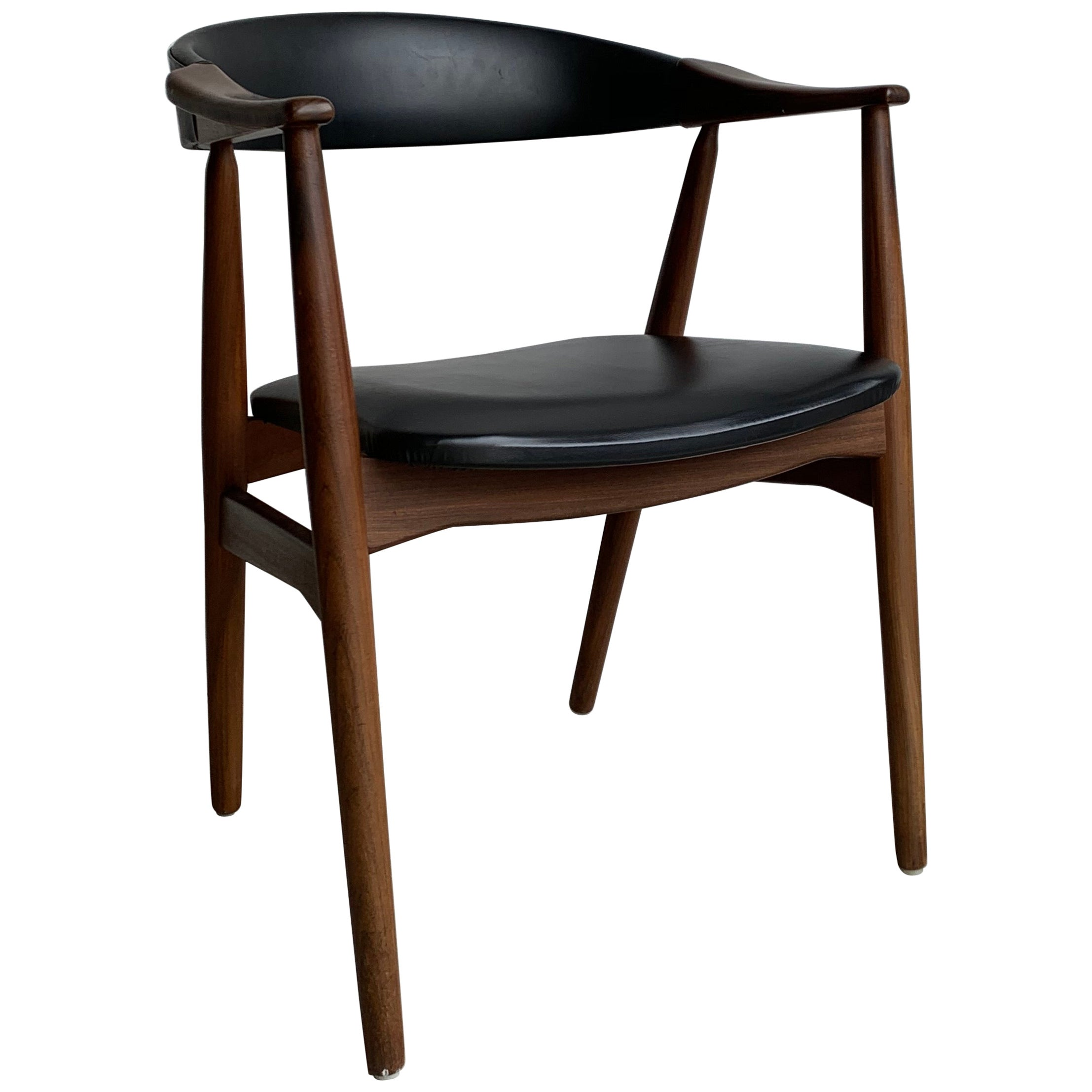 20th Century Scandinavian Modern Black Teak Chair from Farstrup Møbler, 1960s