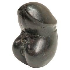 Erotic Japanese Cast Bronze Meiji Period Anthropomorphic Phallus