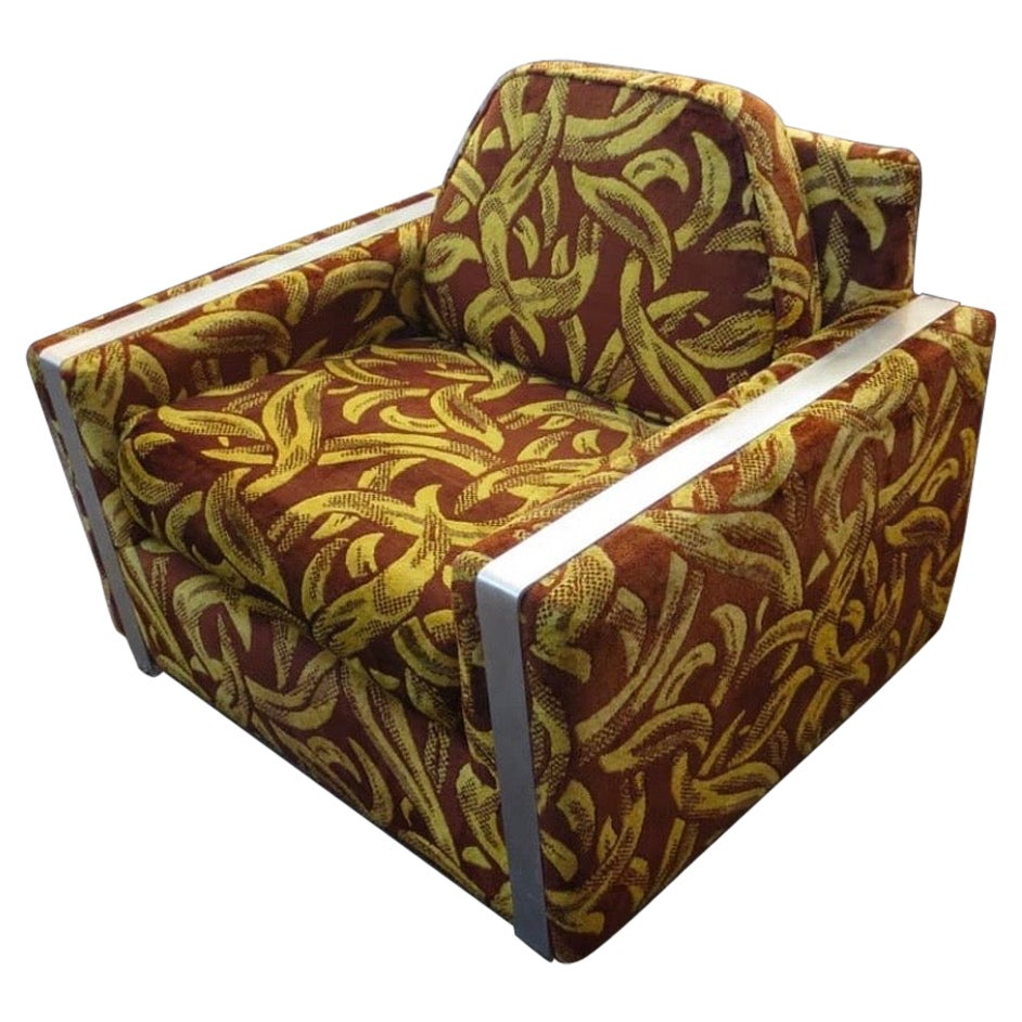 Iconic Mid-Century Modern Cubist Lounge Chair