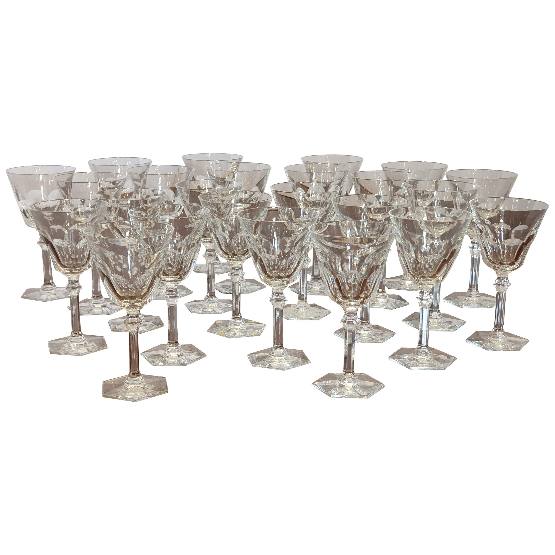 "24-Piece Set of Baccarat Crystal ""Harcourt Eve"" Stemware, NEW"