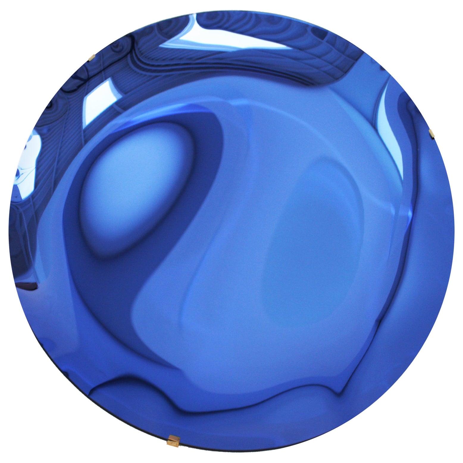 L.A. Studio Contemporary Modern Sculptural Concave Glass Italian Mirror
