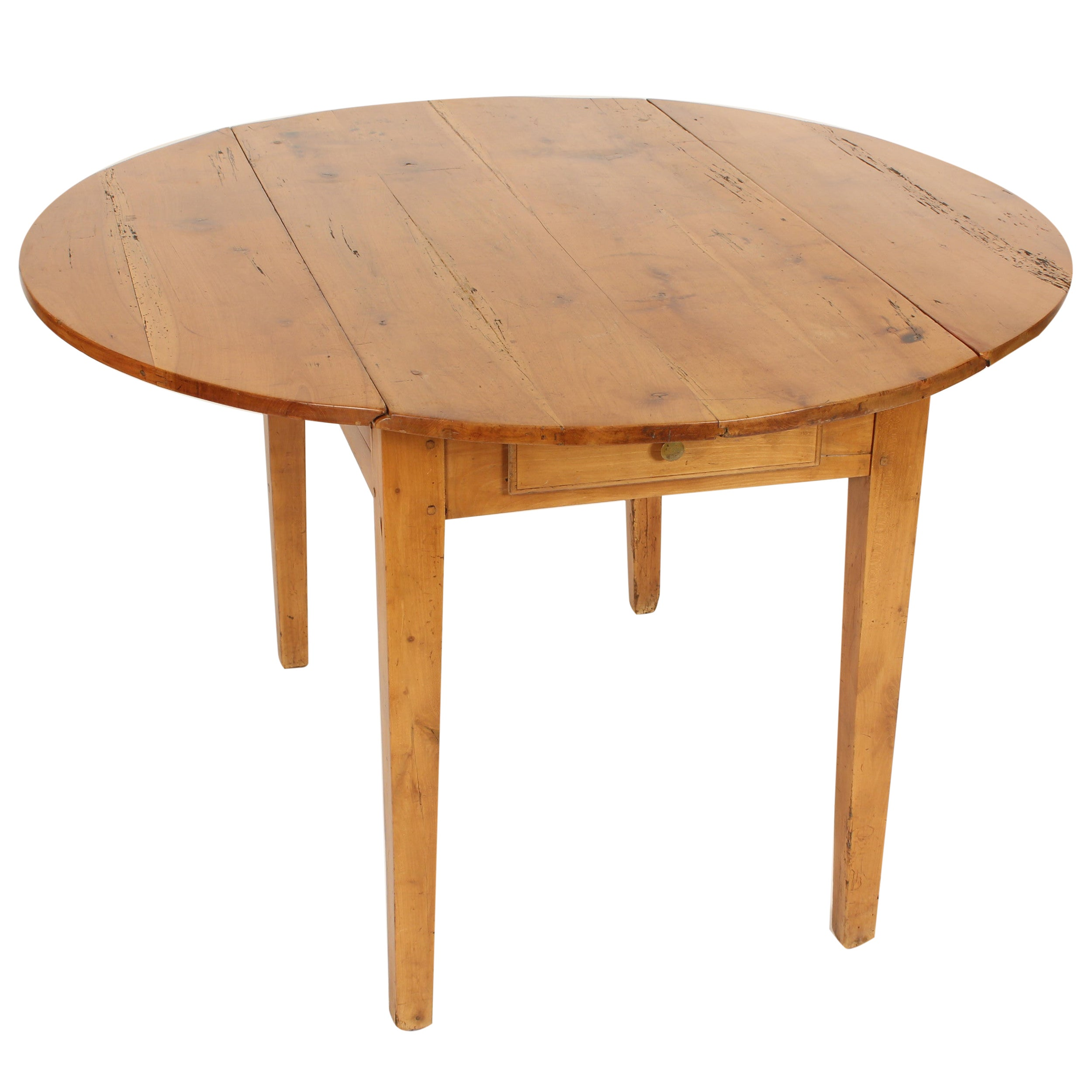 Antique Directoire Style Pine Drop-Leaf Table