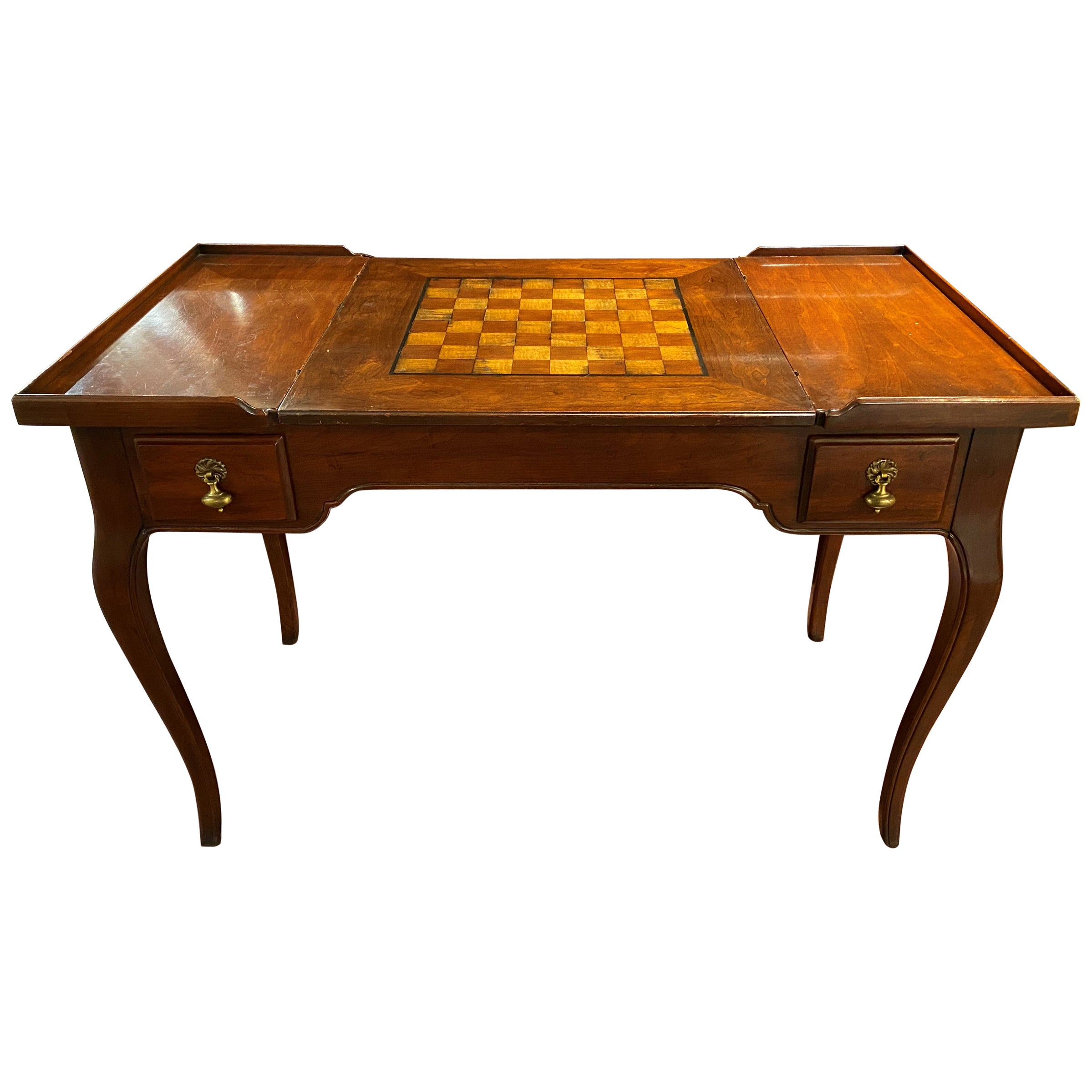 French Louis XV Style Gaming Table with Reversible and Removable Chessboard Top