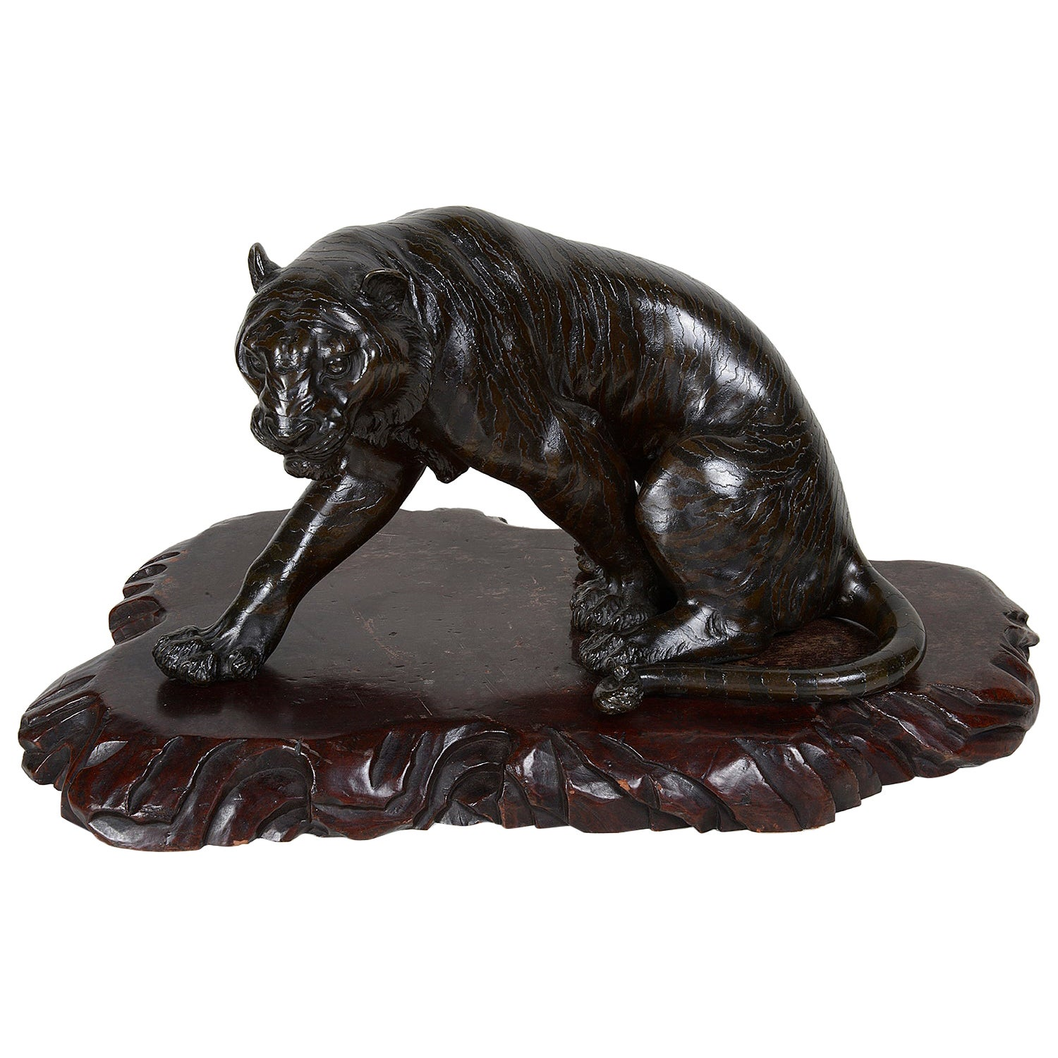 Meiji Period Bronze Tiger, 19th Century