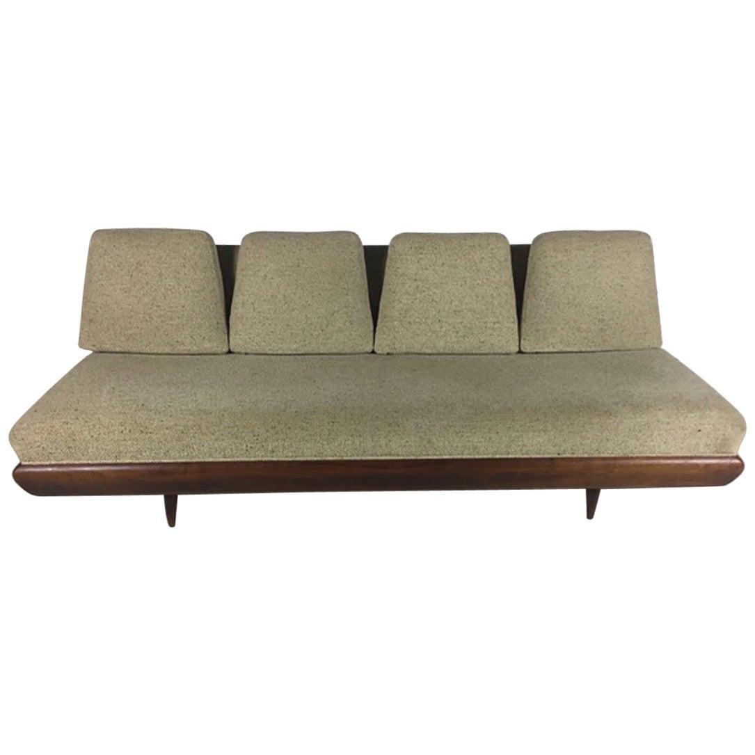 Adrian Pearsall for Craft Associates Walnut Sofa Model 1967-S