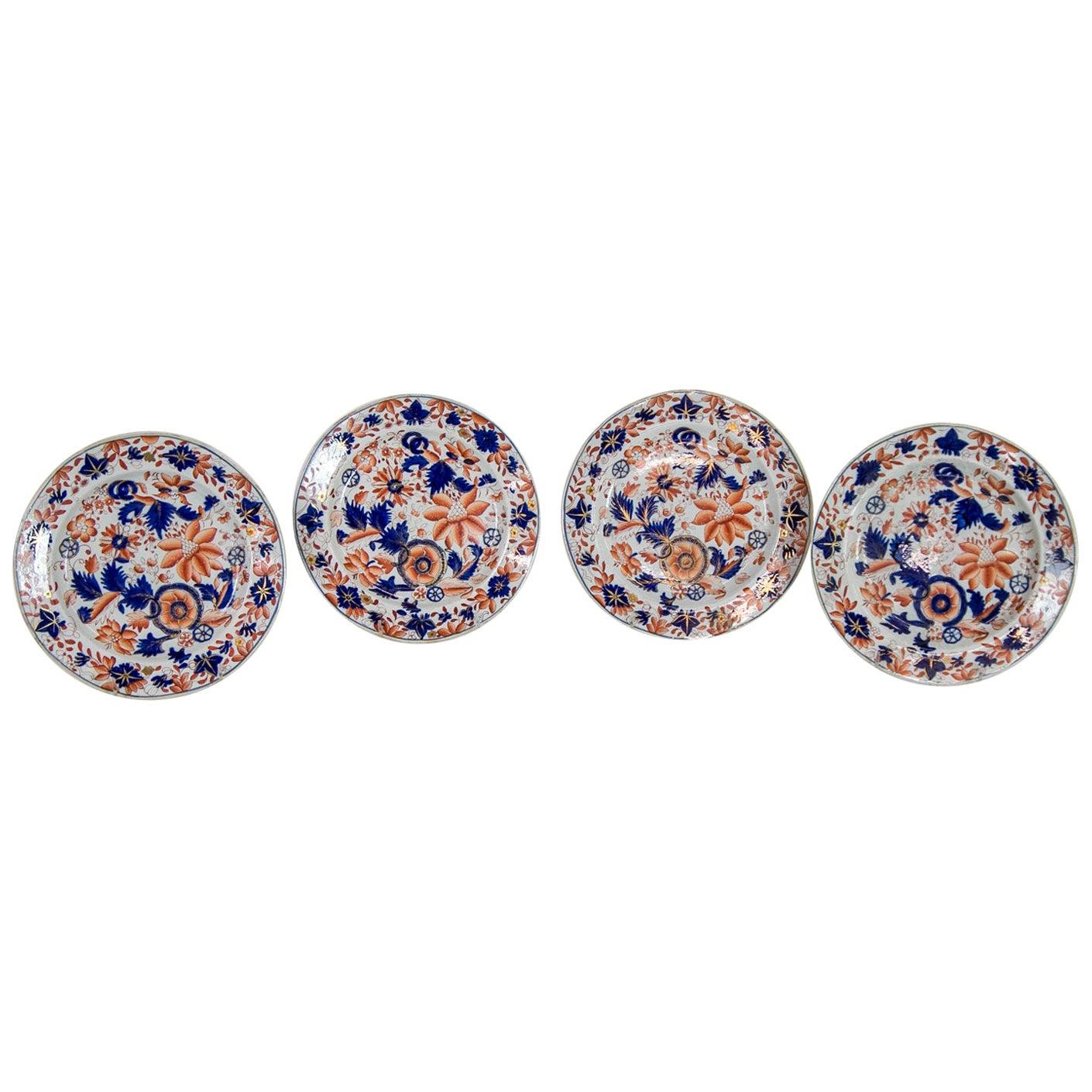 Set of Four English Ironstone Plates