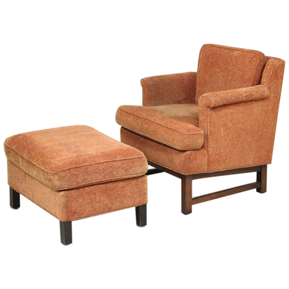 Edward Wormley Lounge Chair with Ottoman