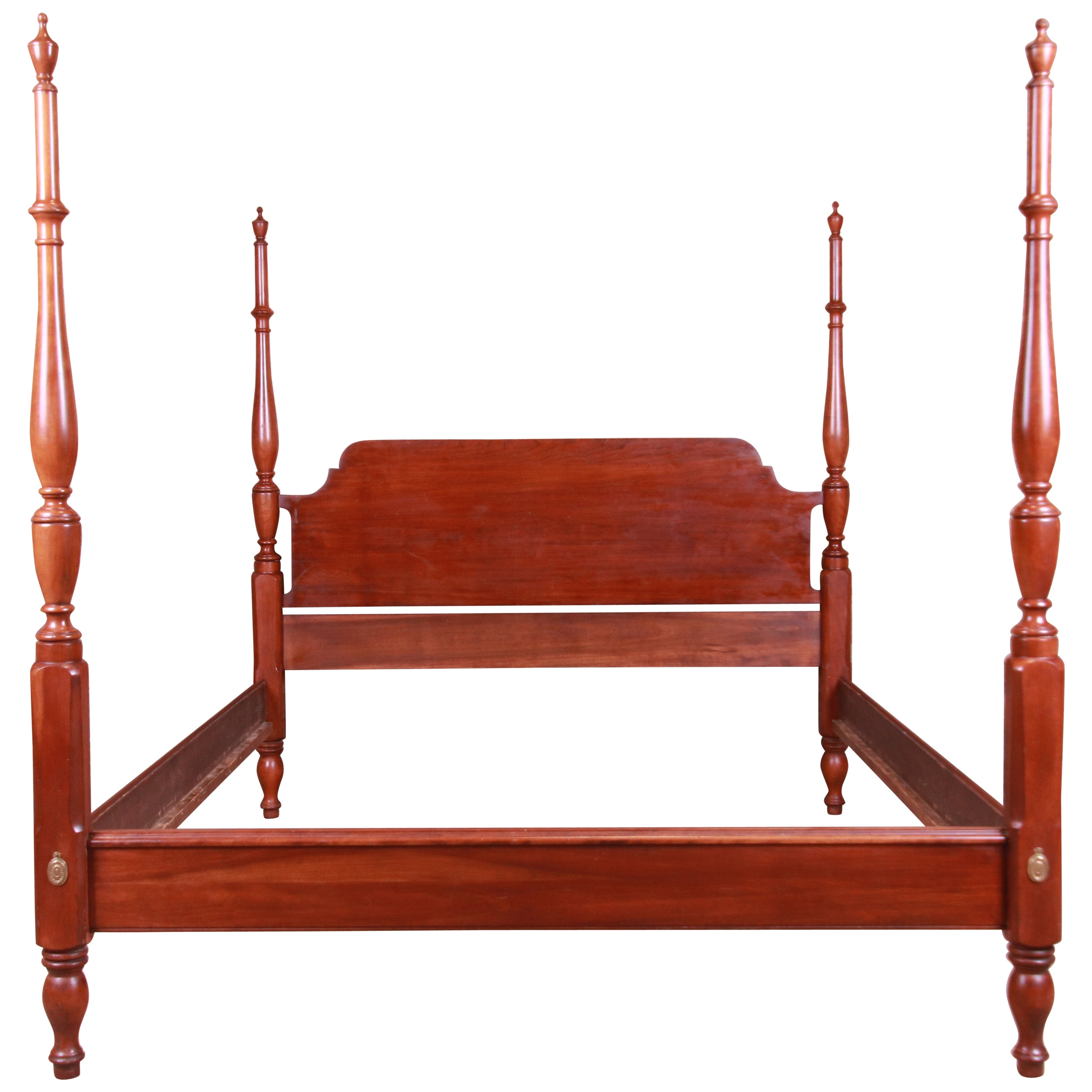 Henkel Harris Chippendale Solid Cherrywood Four-Poster Queen Size Bed