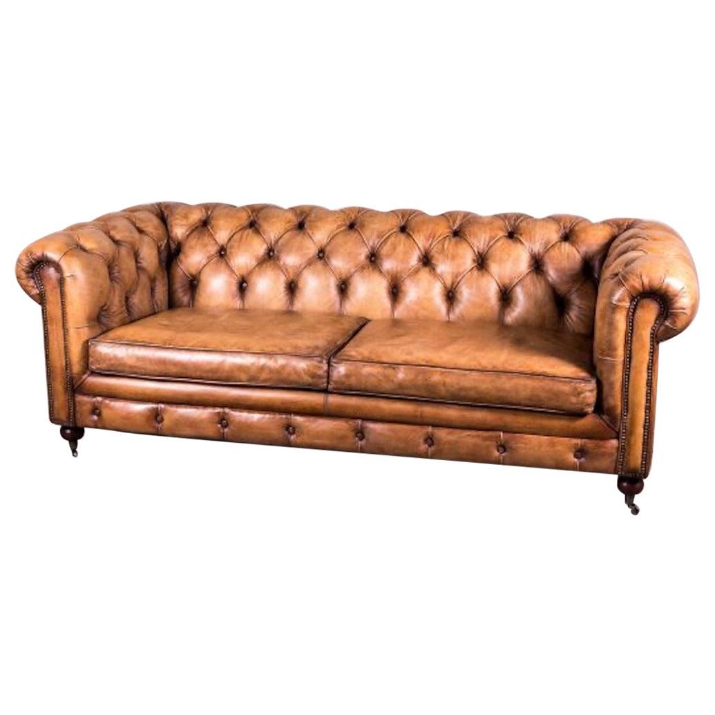 Leather Chesterfield Sofa Range, 20th Century