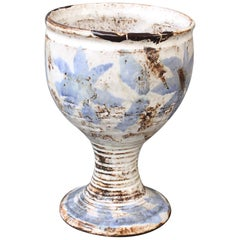 Mid-Century French Ceramic Goblet Attributed to Albert Thiry (circa 1960s)