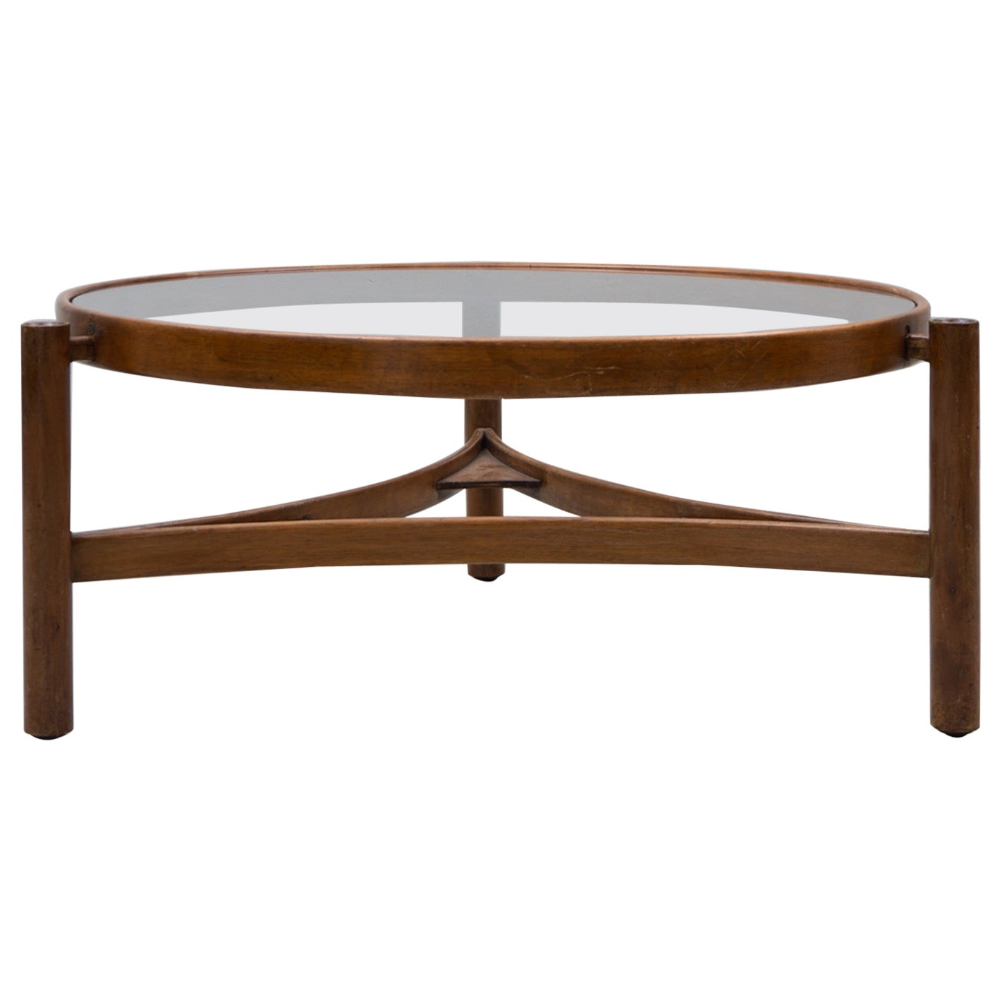 Low Table / Sidetable, Made of Walnut, by Gianfranco Frattini, 1958