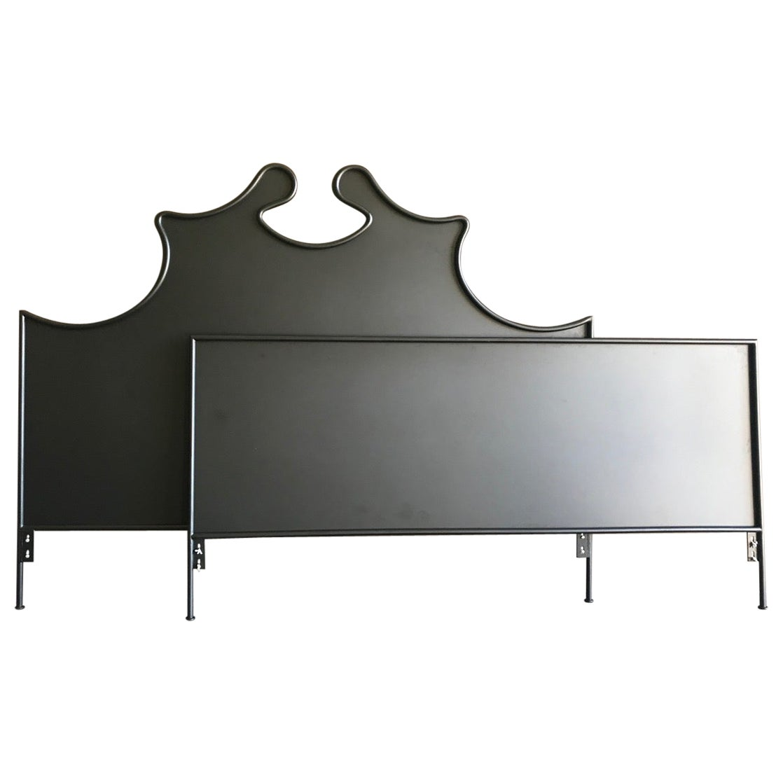Iron Louis XV Style Headboard with Footboard, King