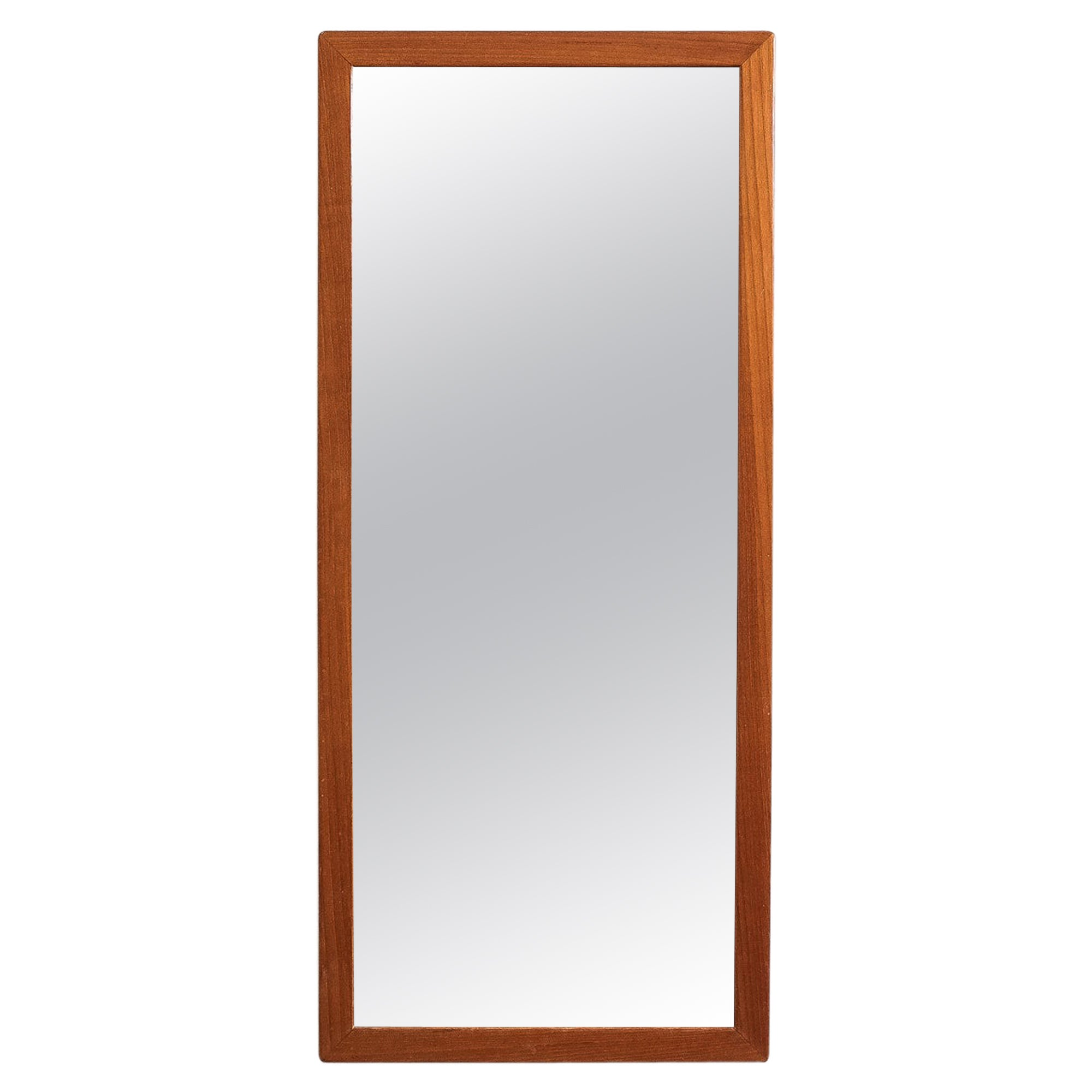 Large Midcentury Teak Wall Mirror, Sweden, 1960s