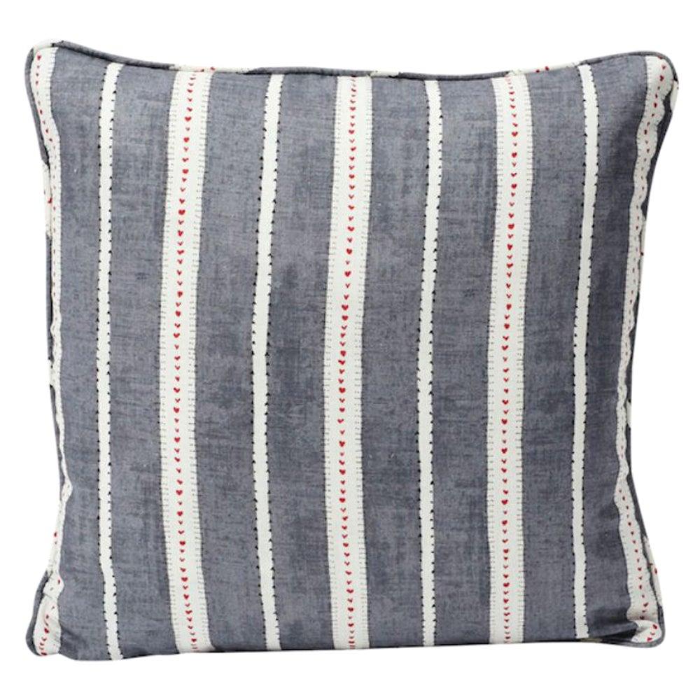 """Schumacher Amour 18"""" Printed Linen Pillow"""