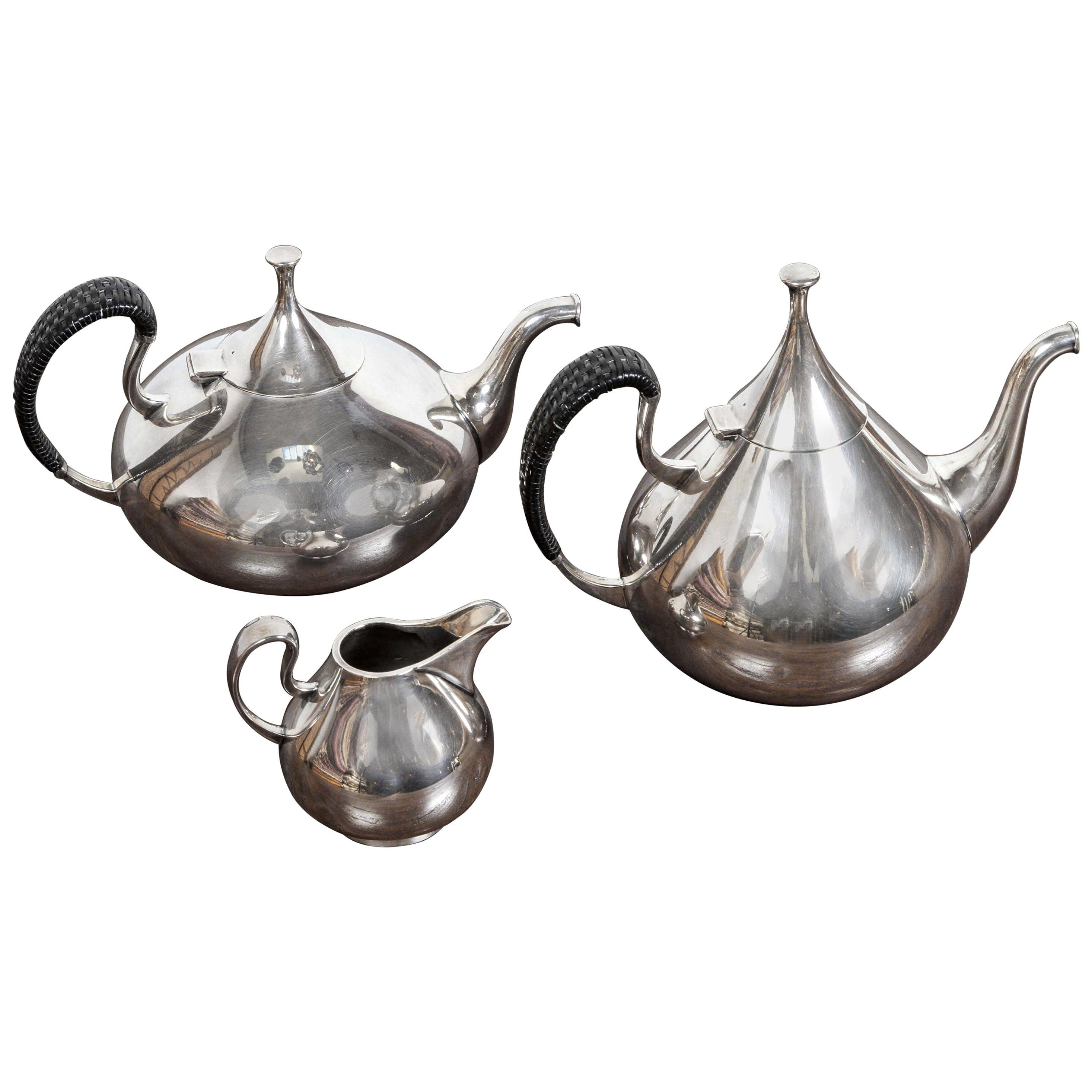 "Vintage John Prip for Reed & Barton ""Dimension"" Tea and Coffee Set Service"