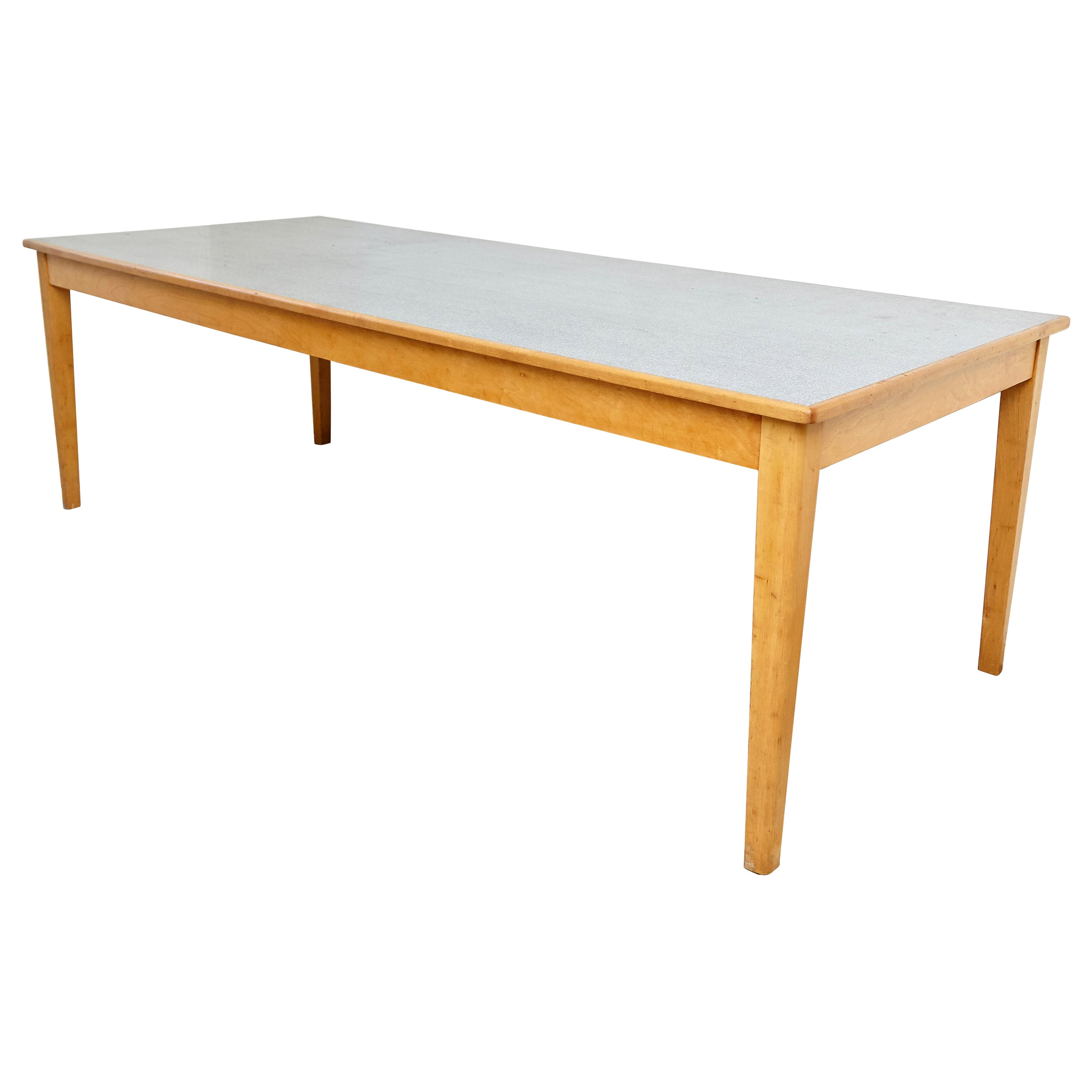 Large Scandinavian Wood and Formica Dining Table, circa 1960