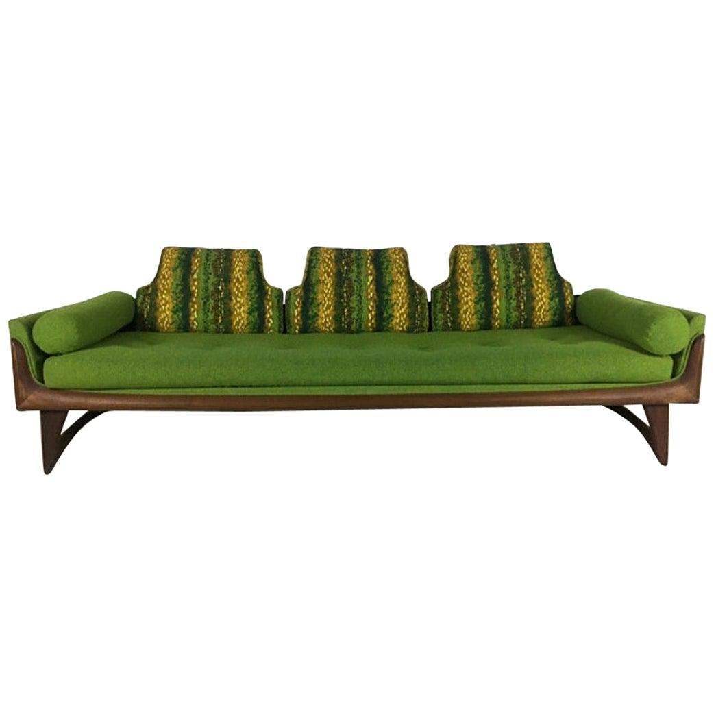 Adrian Pearsall Craft Associates Walnut Gondola Sofa