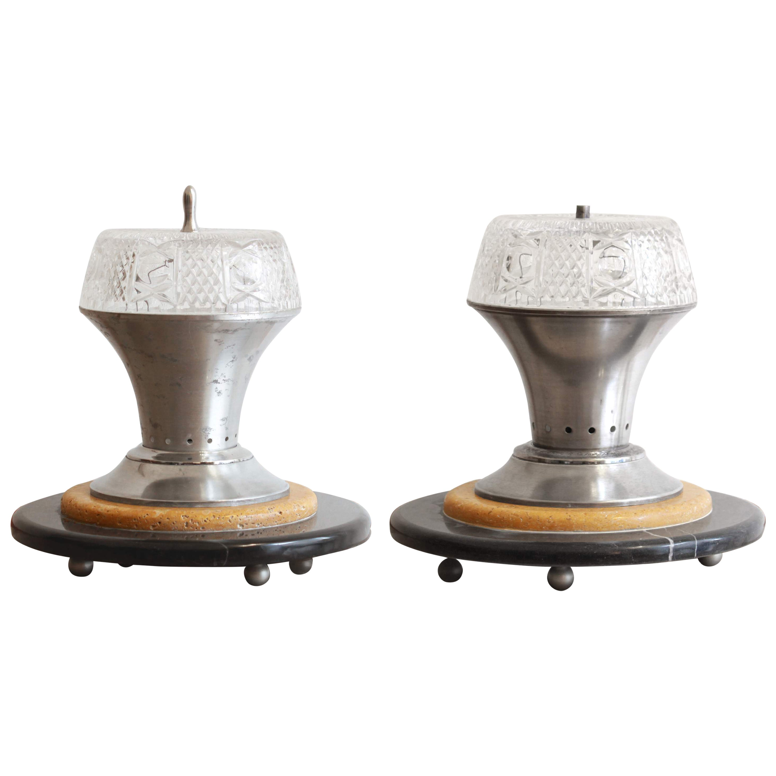 Two Design Marble Table Lamps, VLabdesign Collection
