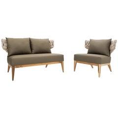 Beluga Set, Varanda Sense Outdoors Armchair and Loveseat
