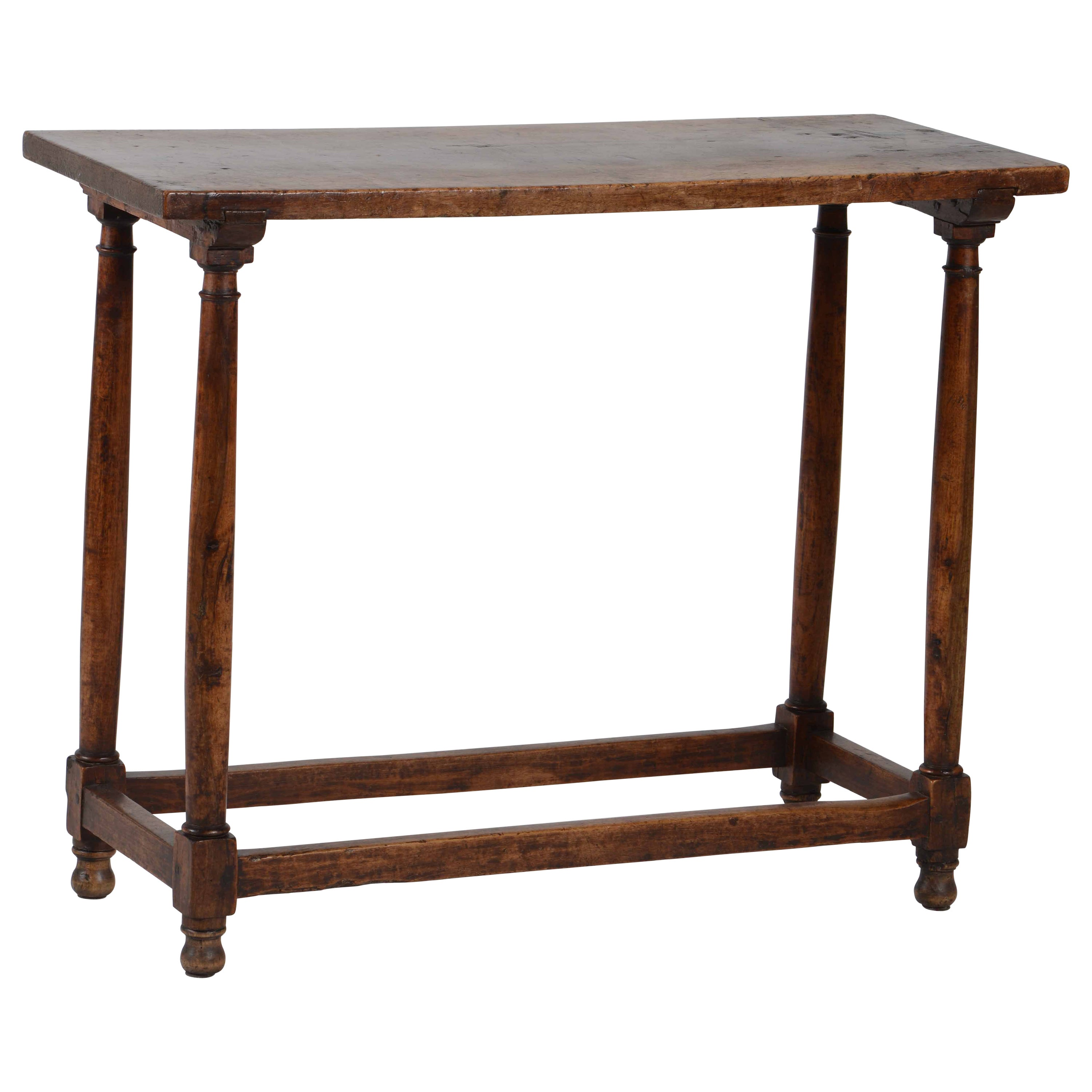 Minimal 17th Century Small Console Table in Walnut