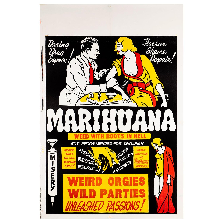 'Marihuana' Original Vintage US One Sheet Movie Poster, 1930s