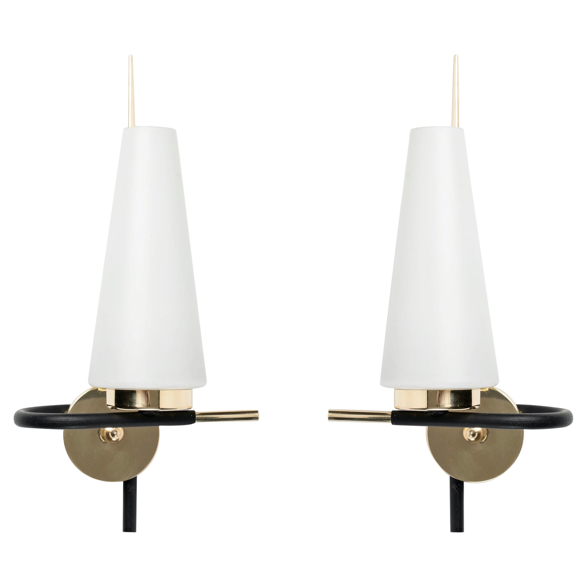 1950 Pair of Maison Lunel Wall Lights