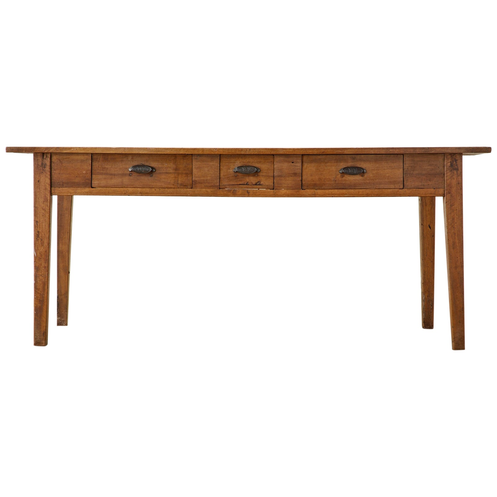 19th Century French Provincial Farmhouse Fruitwood Dining Table