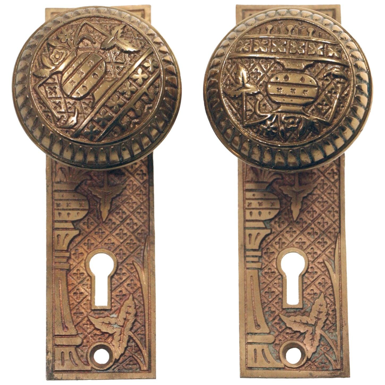 1887 Lockwood Vernacular Brass Door Knob Set