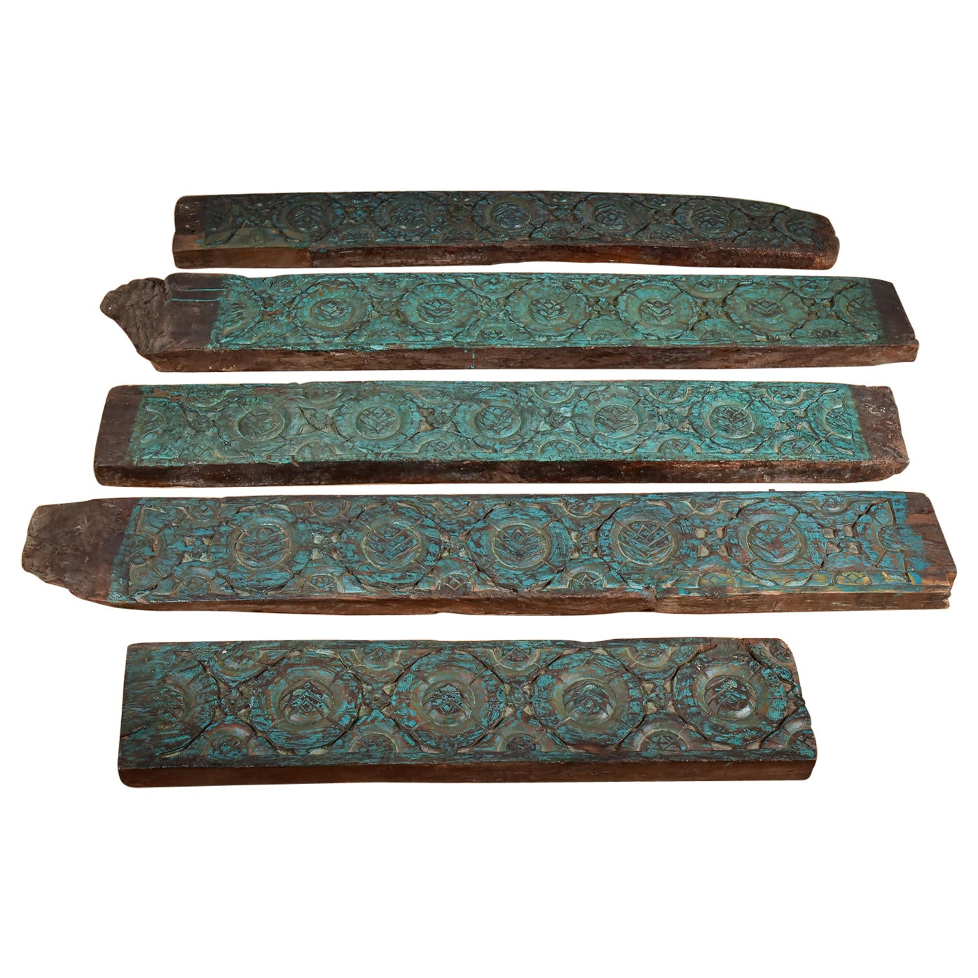 Antique Hand Carved Teak Panels, 20th Century