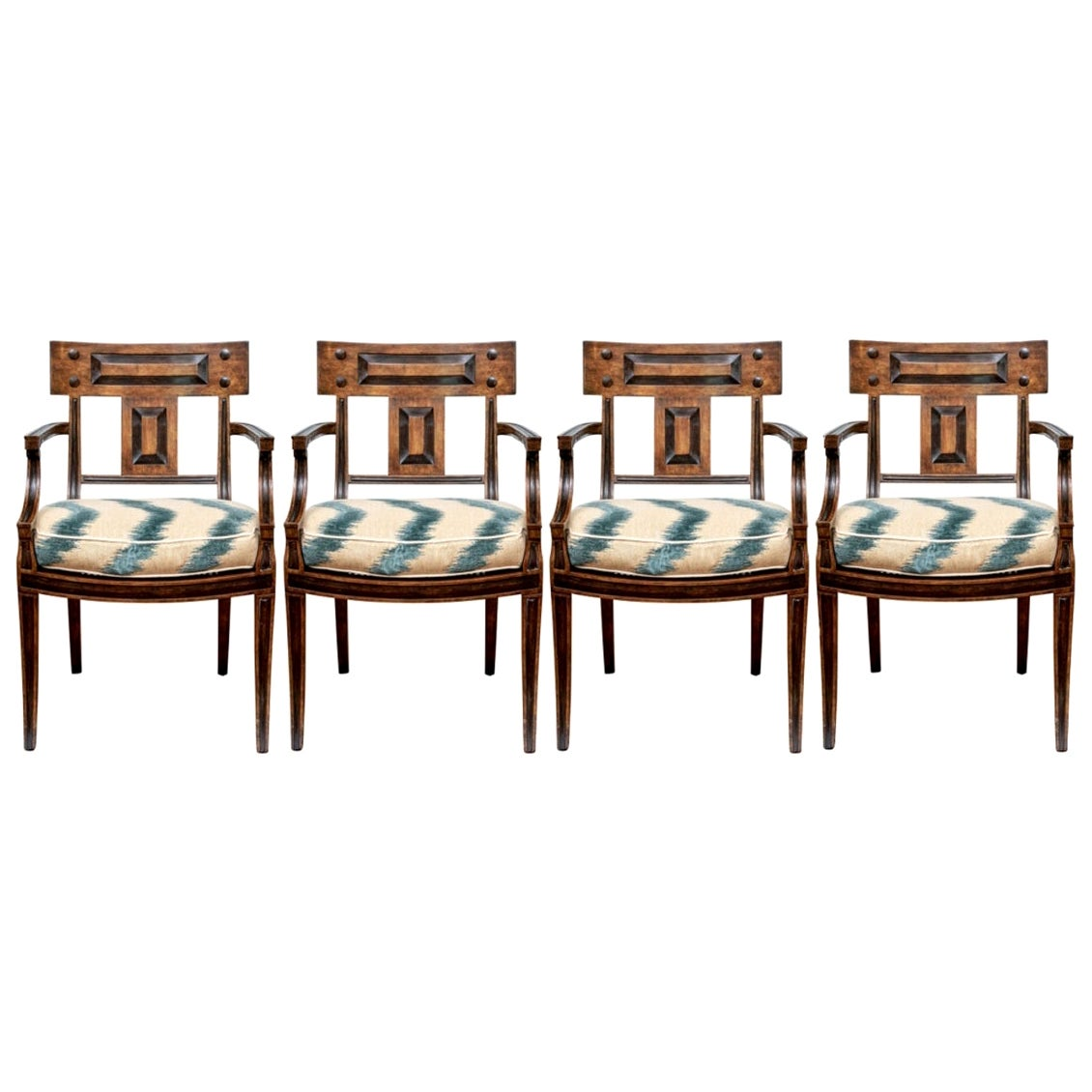 Set of Four Klismos Style Dining Chairs by Michael Taylor
